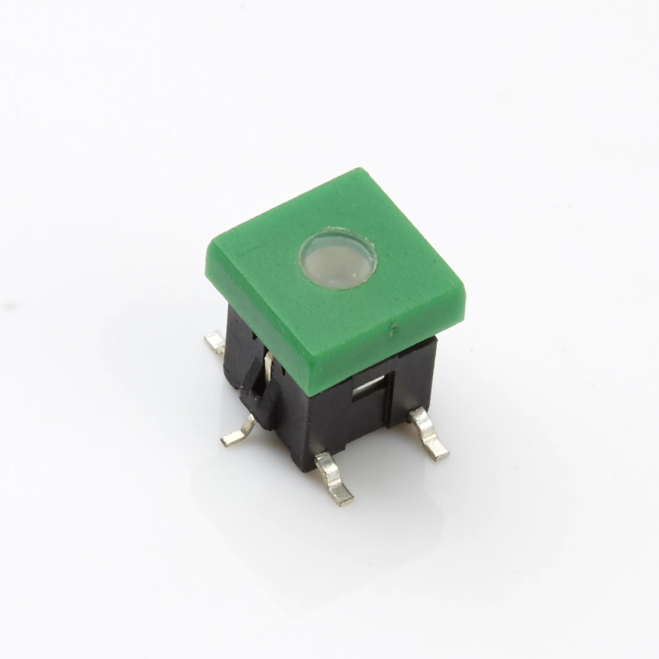 Tact switch with light patch